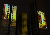 Фасады новостроек на Парнасе расцветили 3D-картинами